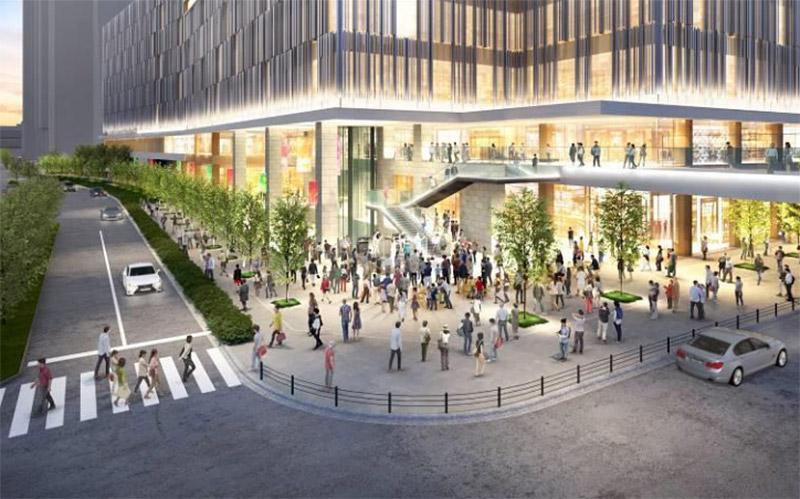 (仮称)梅田3丁目計画 南東側広場 完成イメージ図