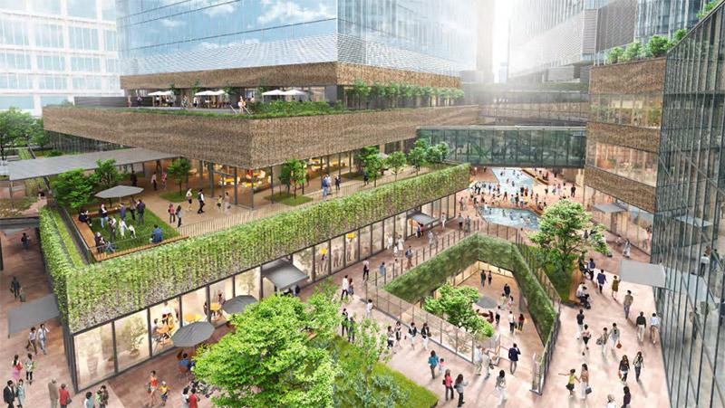 うめきた2期地区開発事業 南街区賃貸棟 商業施設 完成イメージ図