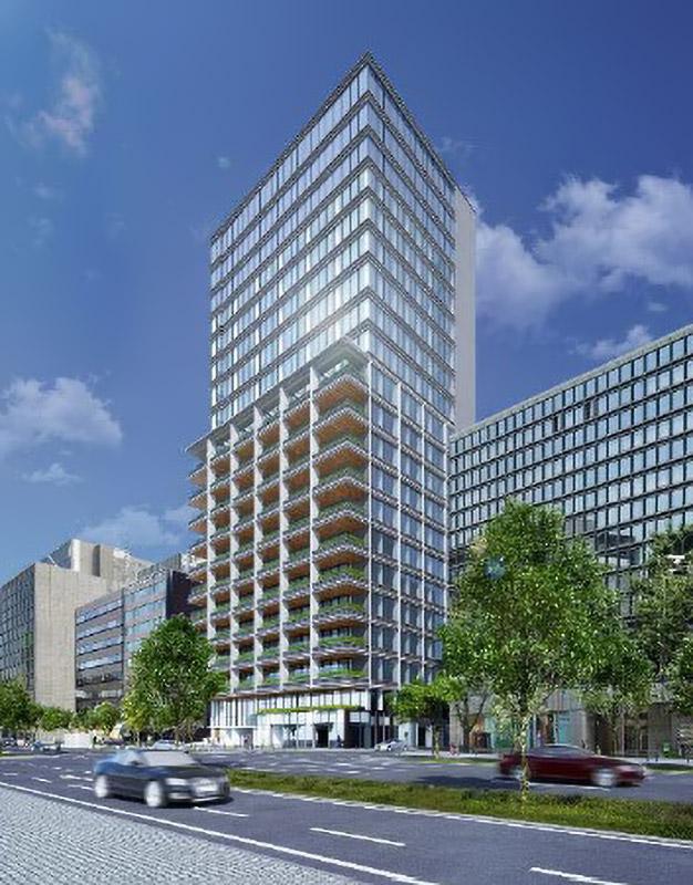(仮称)安土町3丁目ビル 完成イメージ図