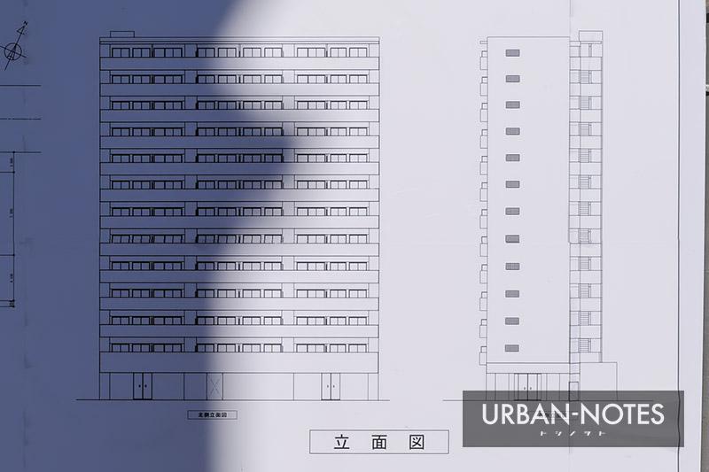 (仮称)大阪市福島区海老江5丁目プロジェクト 立面図