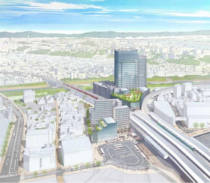 枚方市駅周辺地区第一種市街地再開発事業 3街区 完成イメージ図