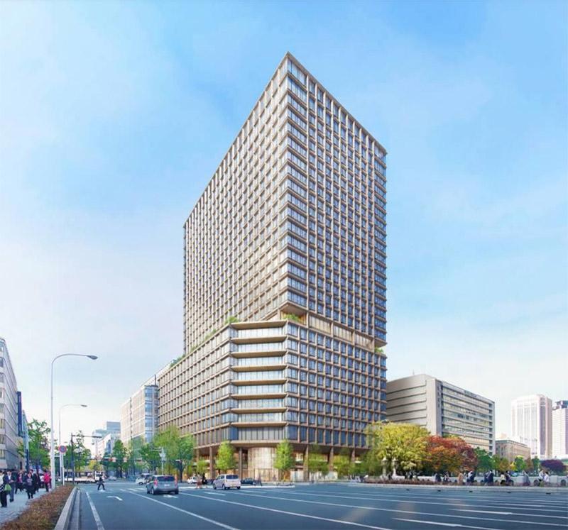 淀屋橋駅西地区第一種市街地再開発事業 完成イメージ図