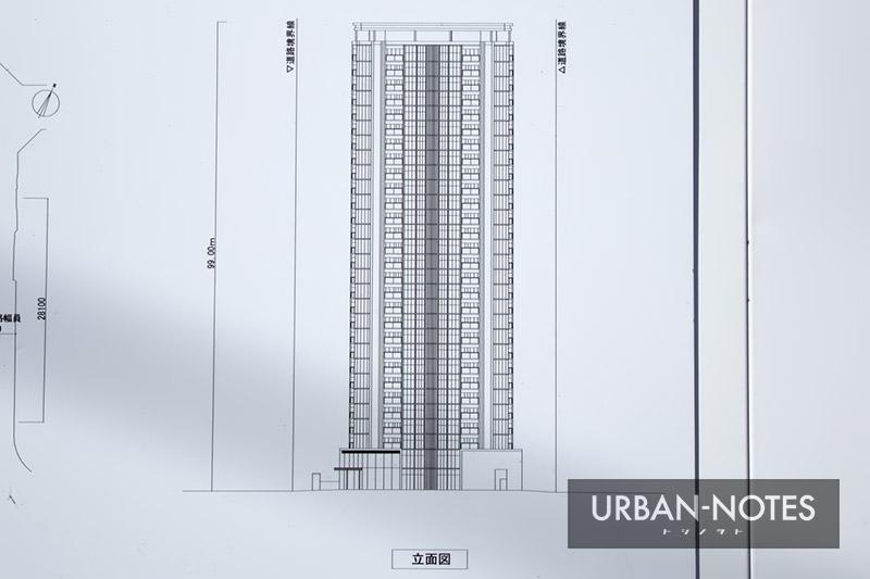 (仮称)港区弁天4丁目集合住宅 新築工事 立面図