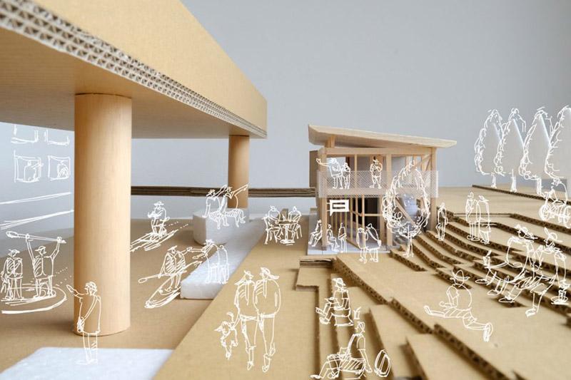 β本町橋(ベータ本町橋) 本町橋BASE にぎわい創造拠点創出・管理運営事業 完成模型