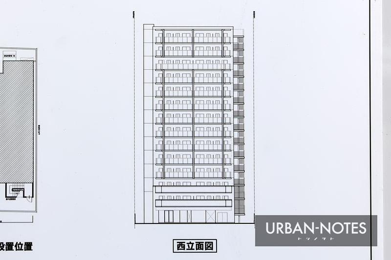 (仮称)エステムコート中央区北久宝寺町1丁目 新築工事 立面図