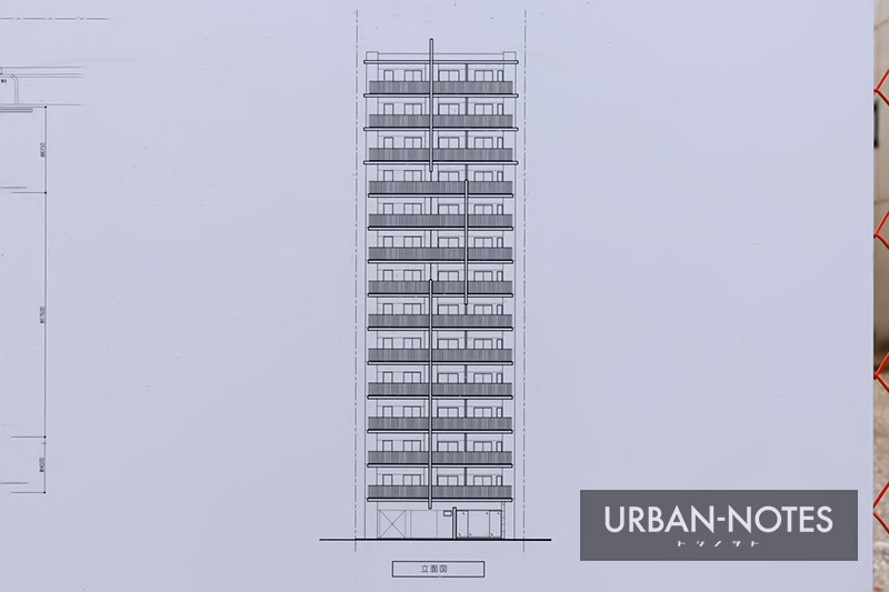 (仮称)大阪市西区京町堀2丁目計画 立面図