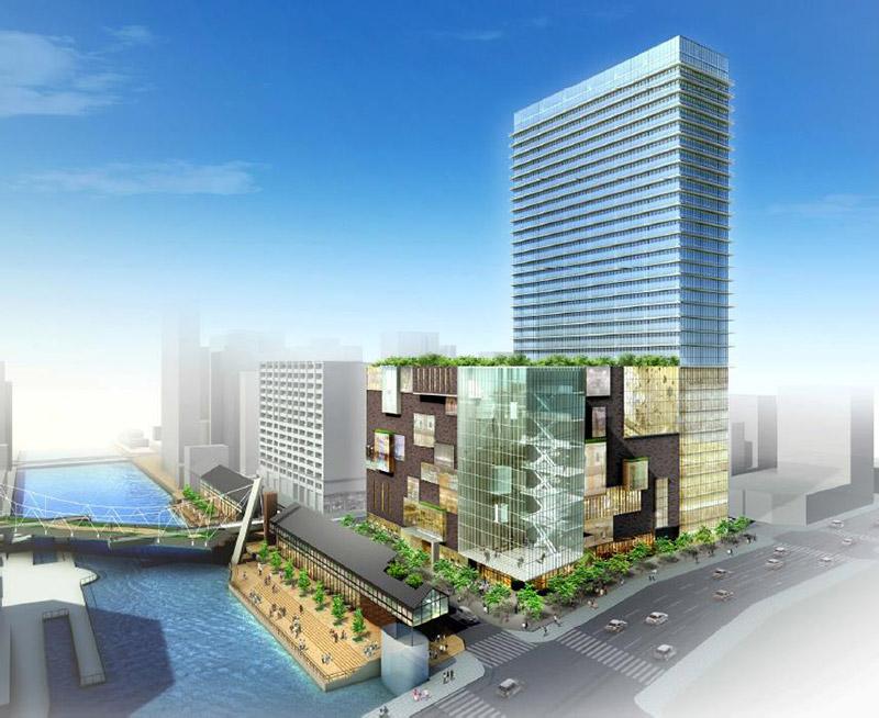 住友倉庫 南堀江A地区複合施設計画 完成イメージ図