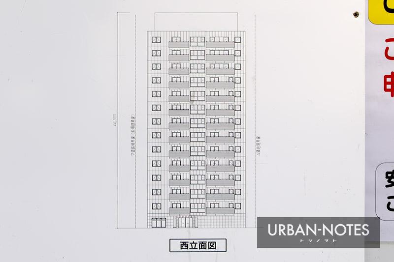 (仮称)南船場2丁目 新築工事 立面図