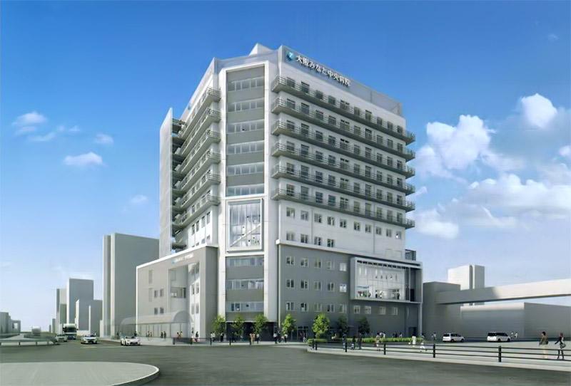 大阪みなと中央病院 完成イメージ図