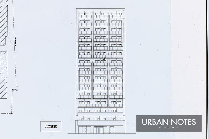 (仮称)プレサンス北久宝寺町1丁目 新築工事 立面図