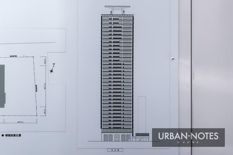 (仮称)西区江戸堀1丁目計画 立面図