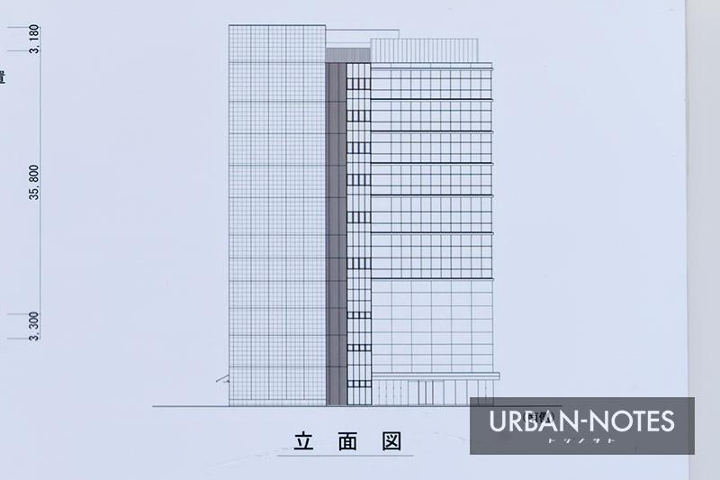 新大阪地区事務所ビル新築他工事 立面図