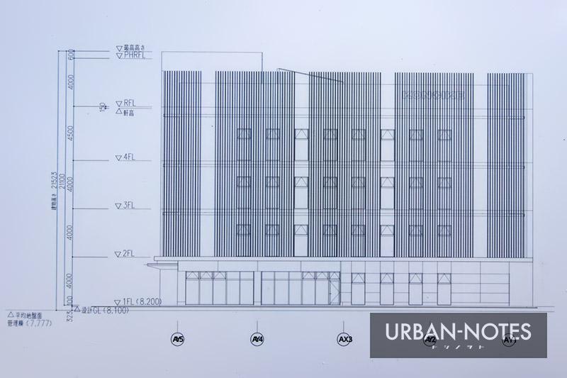 (仮称)KONOIKEテクノセンター新築工事 立面図