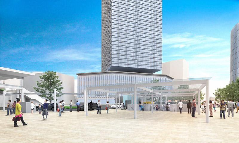 名古屋駅駅前広場再整備 ターミナルスクエア2 完成イメージ図