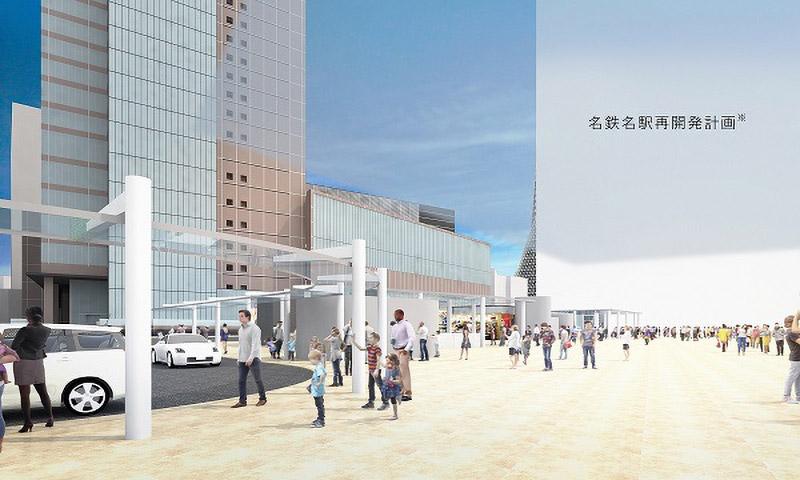 名古屋駅駅前広場再整備 ターミナルスクエア3 完成イメージ図