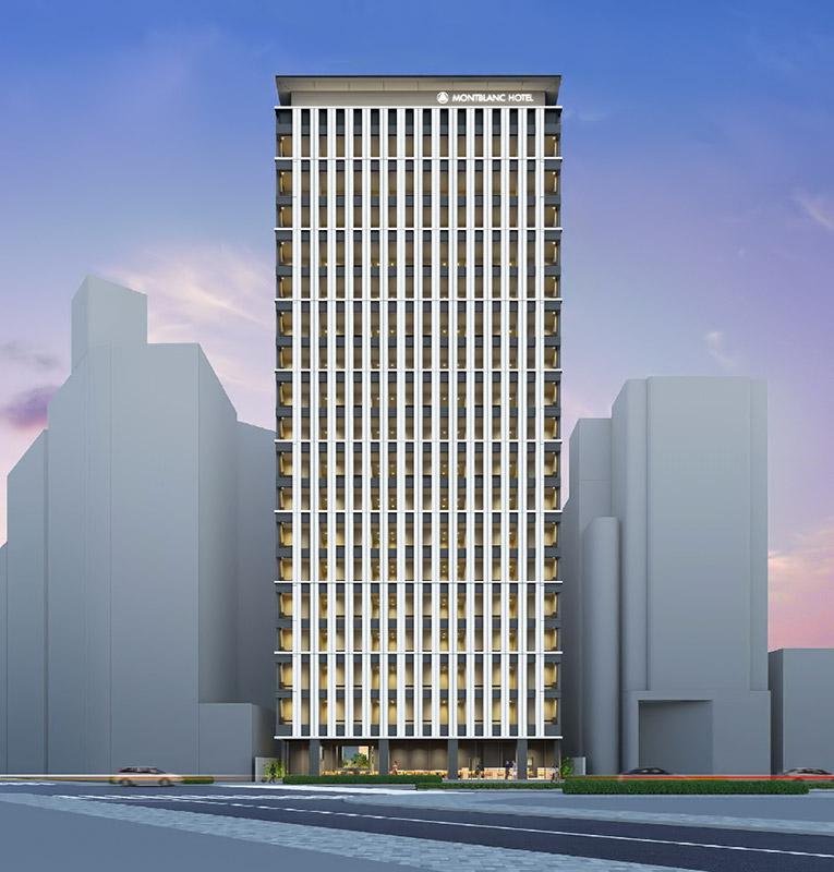 (仮称)名古屋駅前モンブランホテル 完成イメージ図
