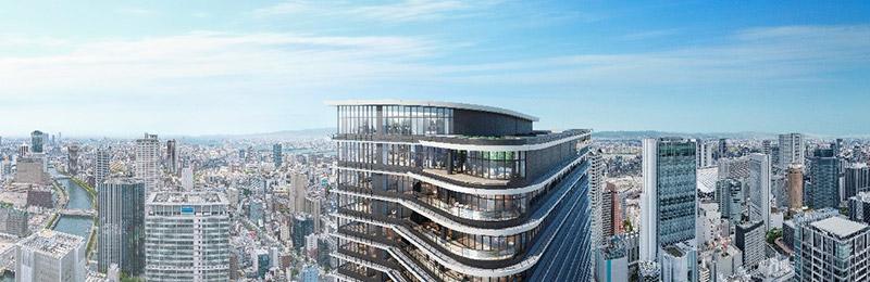 ONE DOJIMA PROJECT ブリリアタワー堂島 & フォーシーズンズホテル 完成イメージ図 02