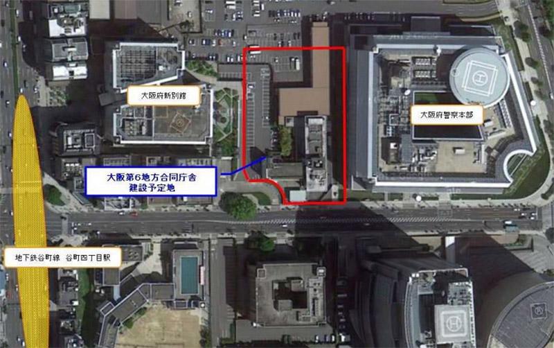 大阪第6地方合同庁舎 位置図