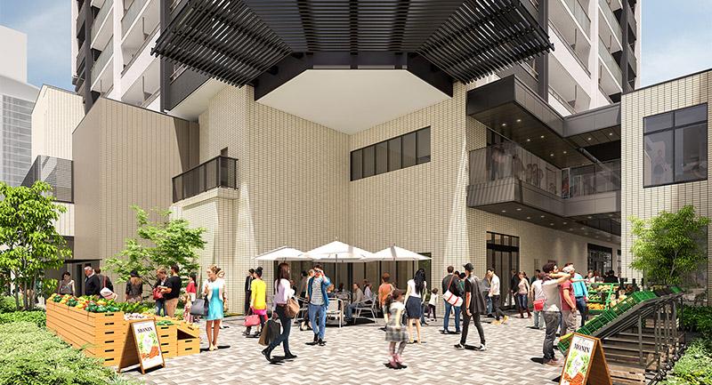 プラウドタワー名古屋錦 広場 イメージ図