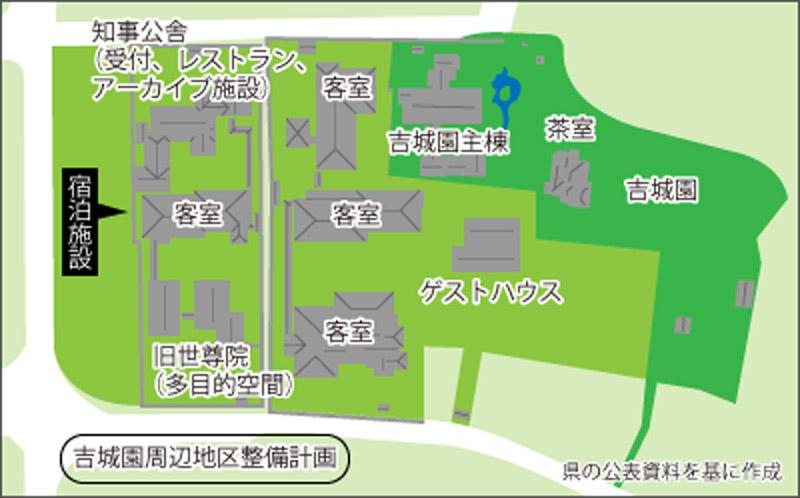 森トラスト 吉城園周辺地区保存管理・活用事業 施設配置図