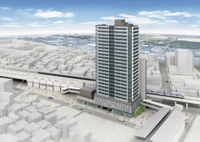 羽衣駅前地区第一種市街地再開発事業 完成イメージ図 01