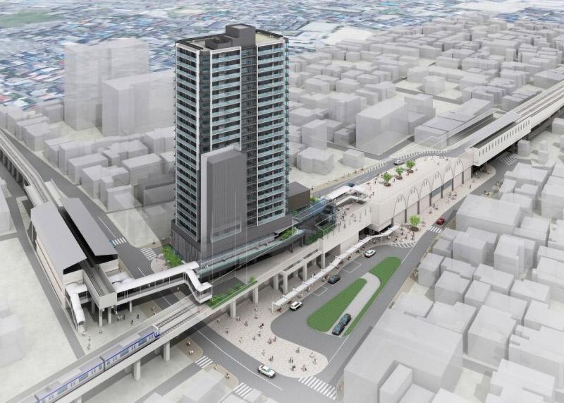 羽衣駅前地区第一種市街地再開発事業 完成イメージ図 02