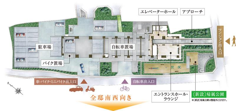 エスリード岸和田駅前 敷地配置図
