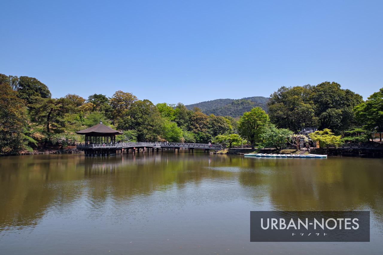 奈良公園 鷺池と浮見堂 2021年4月
