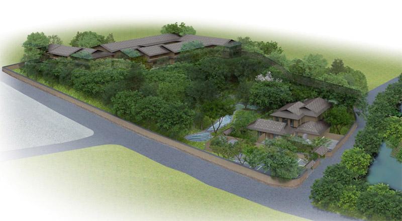 ふふ 奈良 (高畑町裁判所跡地保存管理・活用事業) 完成イメージ図