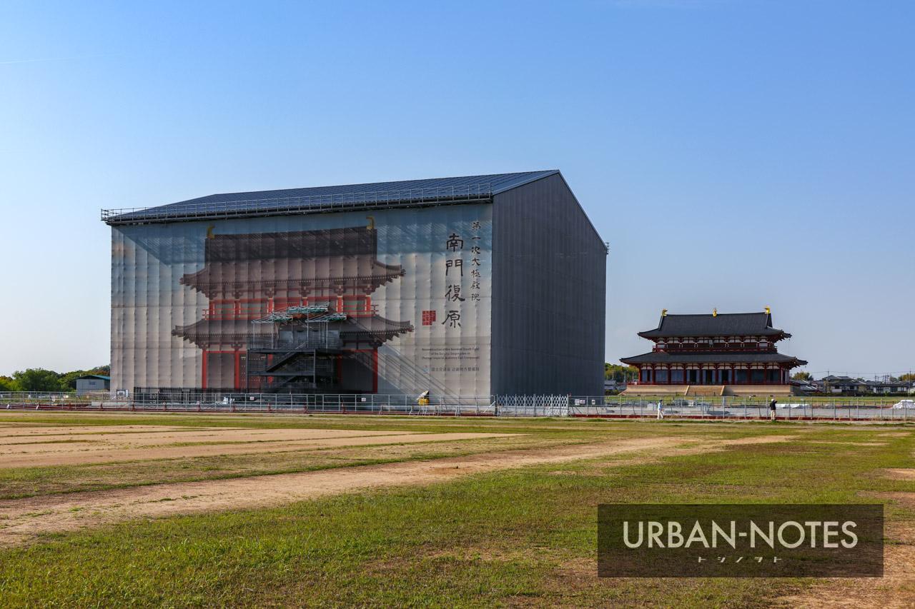 平城宮跡歴史公園 第一次大極殿院 南門復原整備工事 2021年4月 03