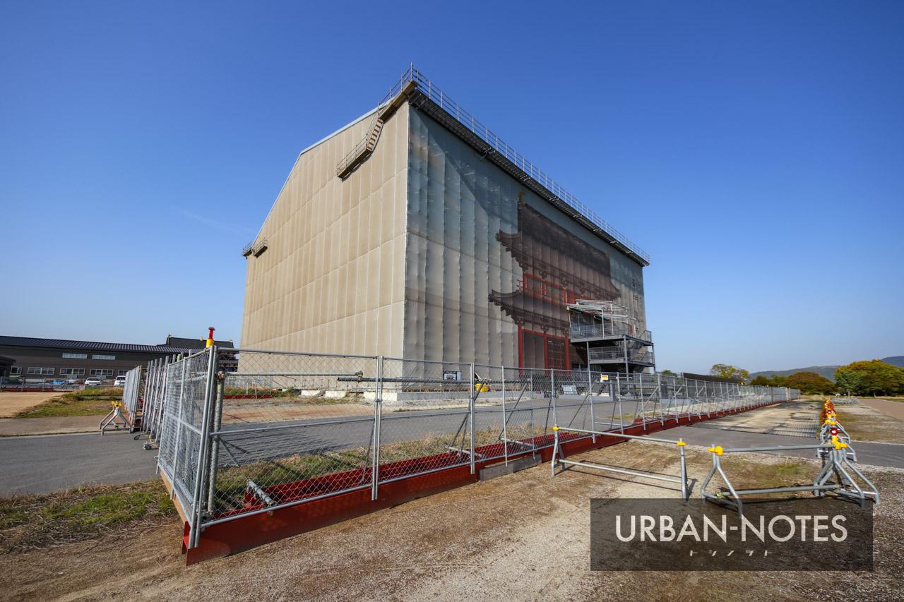 平城宮跡歴史公園 第一次大極殿院 南門復原整備工事 2021年4月 04