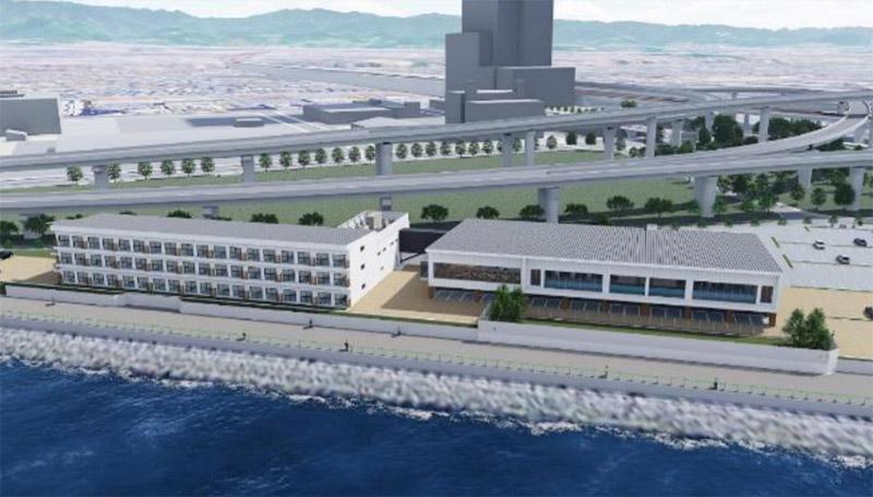 変なホテル 関西空港 完成イメージ図