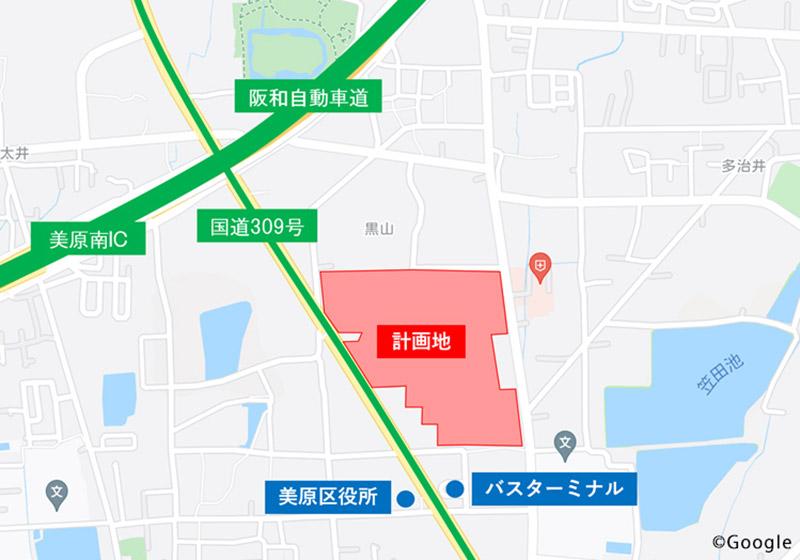 (仮称)三井ショッピングパーク ららぽーと堺 位置図