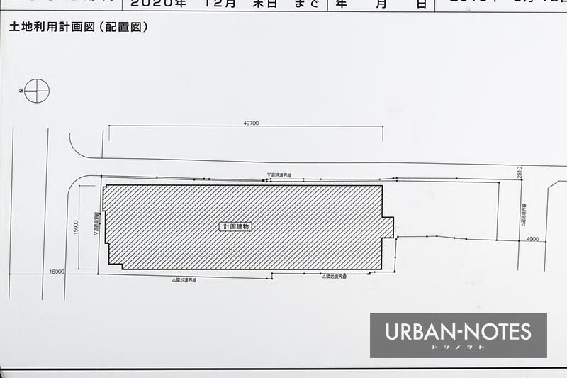 (仮称)奈良市三条町ホテル計画 配置図