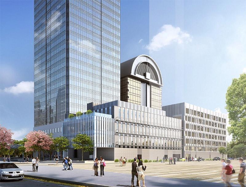 堺保健センター・市民駐車場建設外工事 完成イメージ図