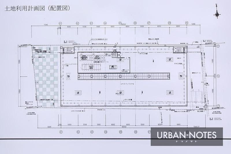 東横イン (仮称)JR奈良駅西口ビル新築工事 配置図