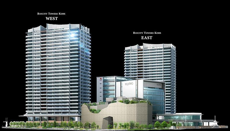 ベイシティタワーズ神戸 完成イメージ図 01