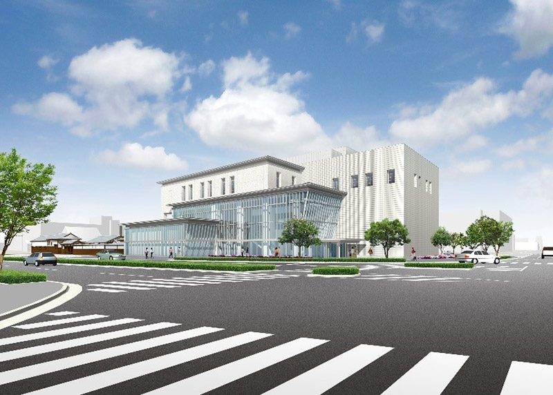 県立兵庫津ミュージアム ひょうごはじまり館 完成イメージ図