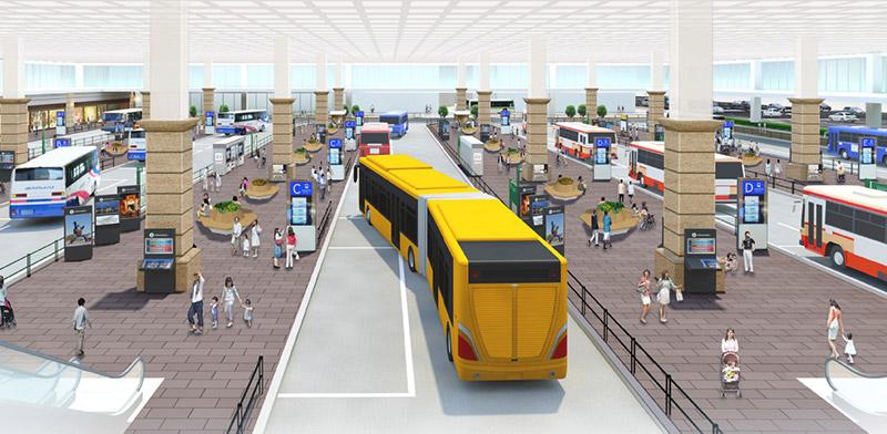 雲井通5・6丁目再整備 バスターミナル 完成イメージ図