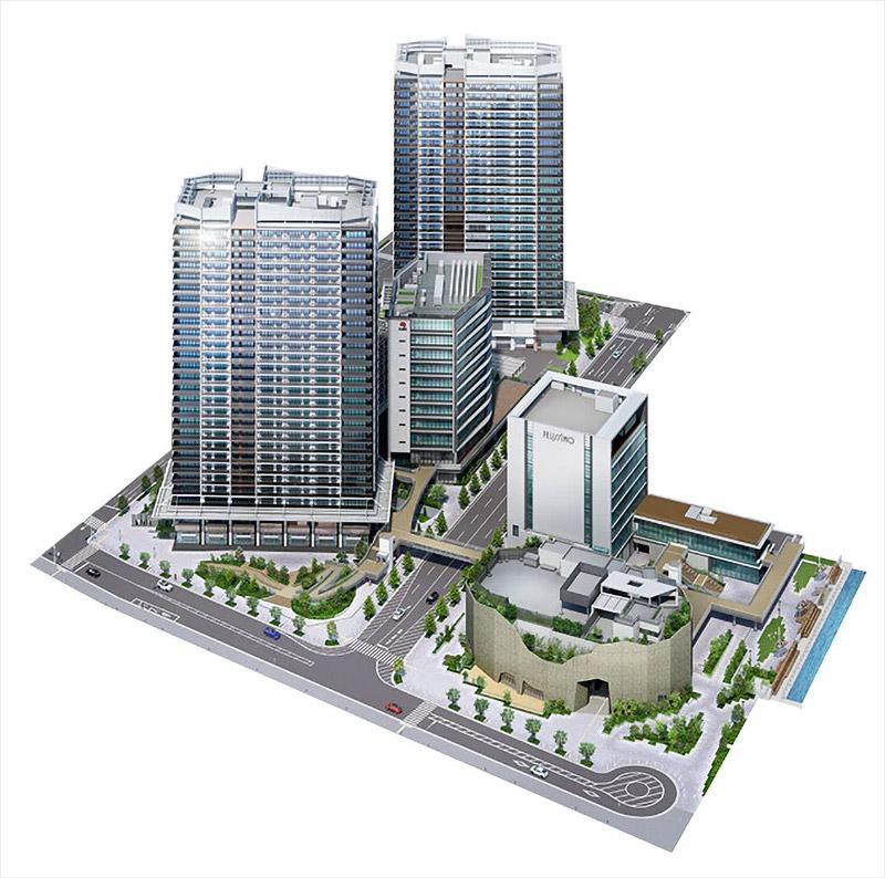 新港突堤西地区(第1突堤基部)再開発 完成イメージ図施設配置図