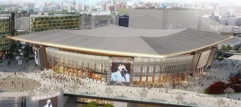 万博記念公園駅前周辺地区活性化事業 アリーナ棟 完成イメージ図