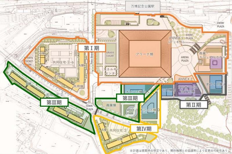 万博記念公園駅前周辺地区活性化事業 計画図