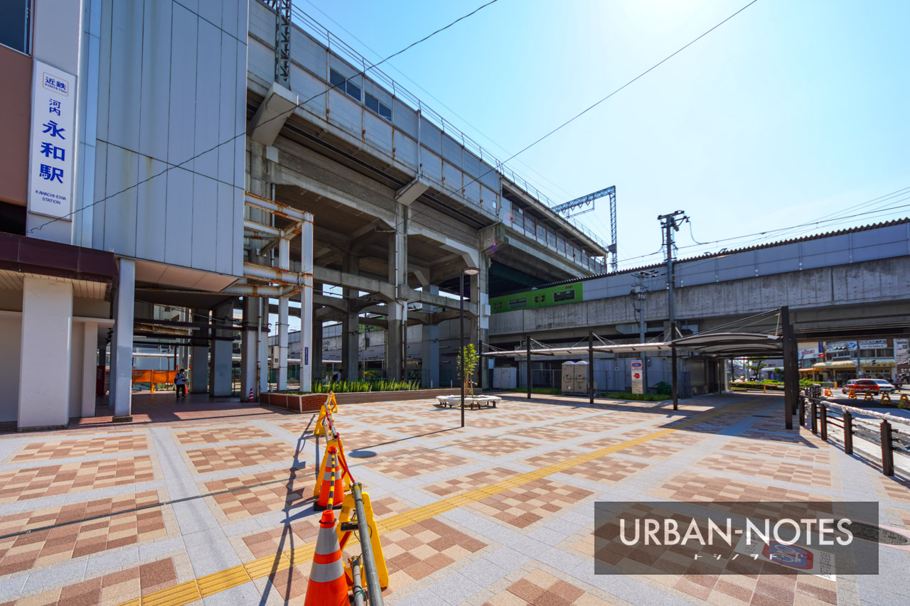 河内永和駅前交通広場 2021年6月 01