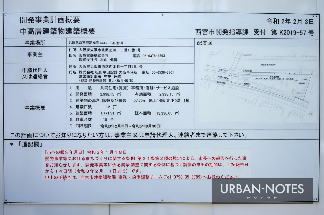 (仮称)阪急西宮ガーデンズ西側土地開発計画 建築計画のお知らせ