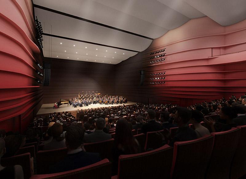 茨木市市民会館跡地エリア整備事業 大ホール 完成イメージ図