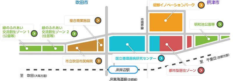 北大阪健康医療都市 健都 街区マップ