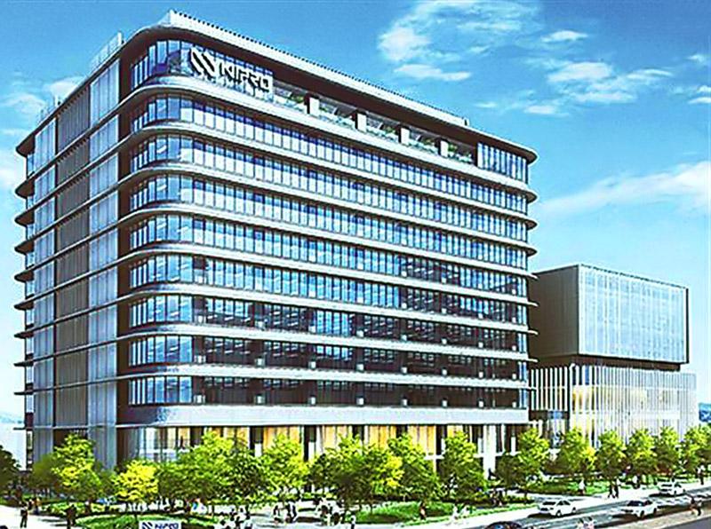 (仮称)ニプロ健都イノベーションパーク施設新築工事 完成イメージ図