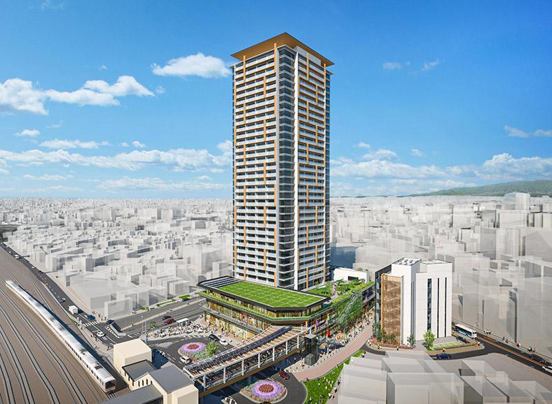 千里丘駅西地区市街地再開発事業 完成イメージ図 01