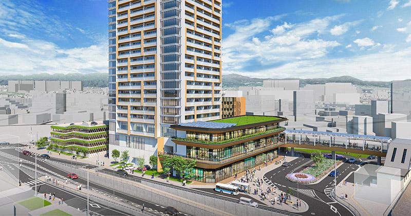 千里丘駅西地区市街地再開発事業 完成イメージ図 02