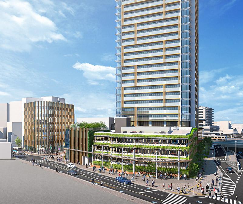 千里丘駅西地区市街地再開発事業 完成イメージ図 03